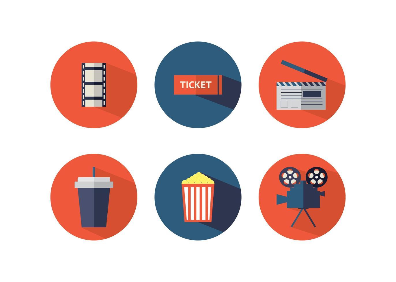 set di icone del cinema vettore