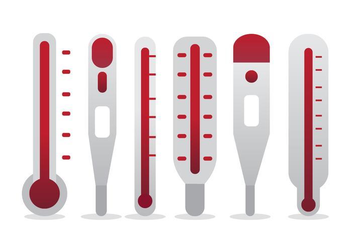 Set vettoriale termometro obiettivo