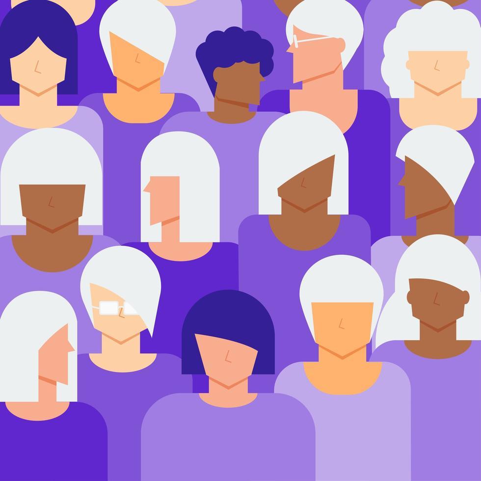 concetto di cittadini di donne anziane e giovani vettore