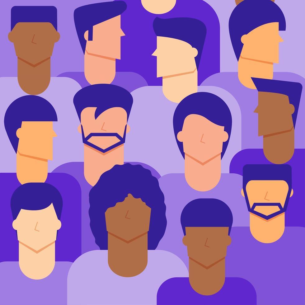 sfondo di cittadini di sesso maschile vettore
