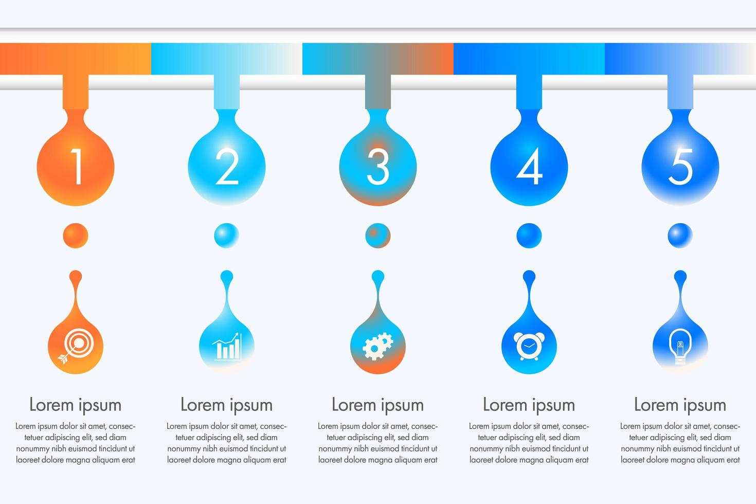 goccia d'acqua colorata infografica vettore