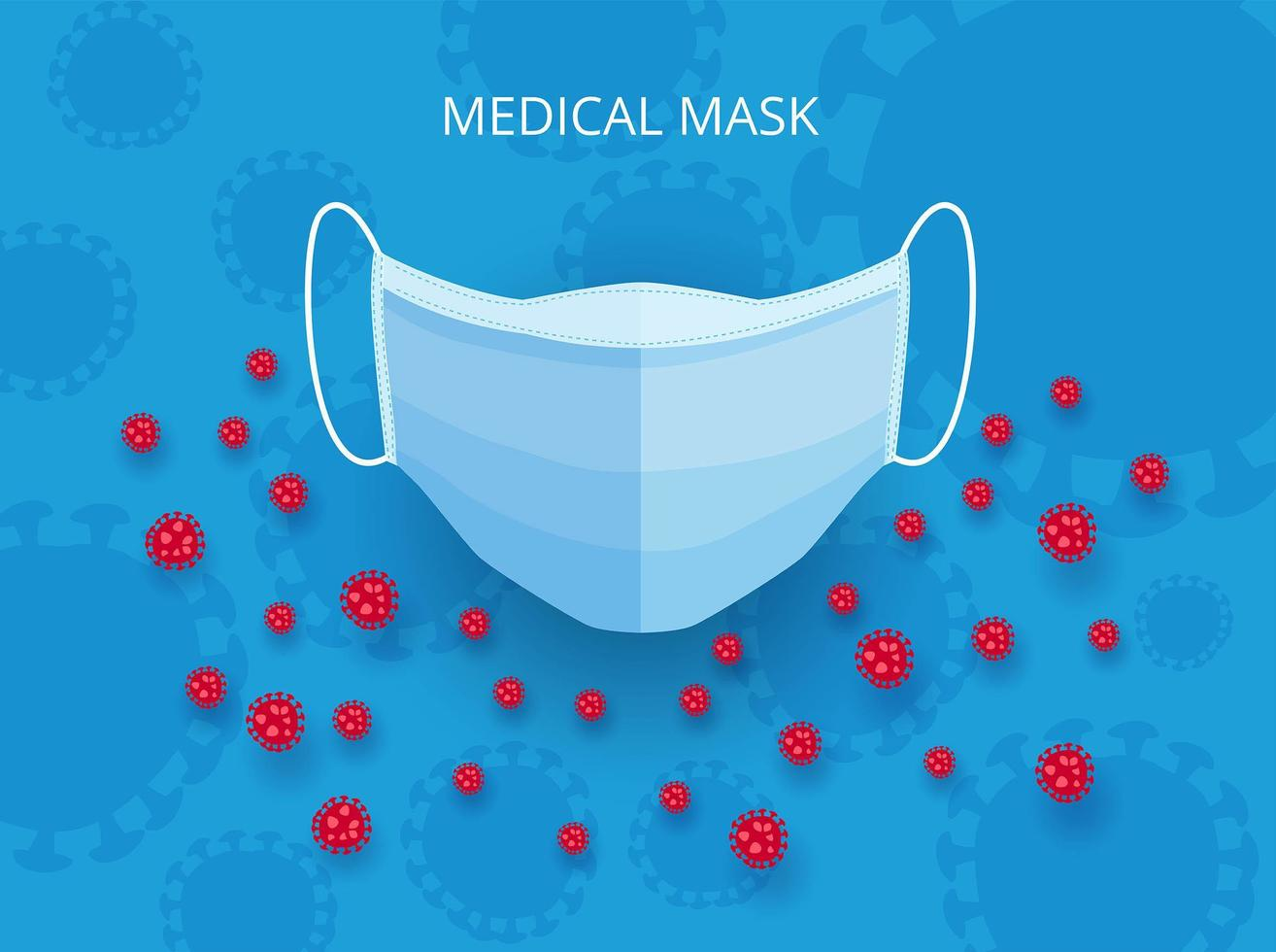 maschera medica stile cartone animato vettore