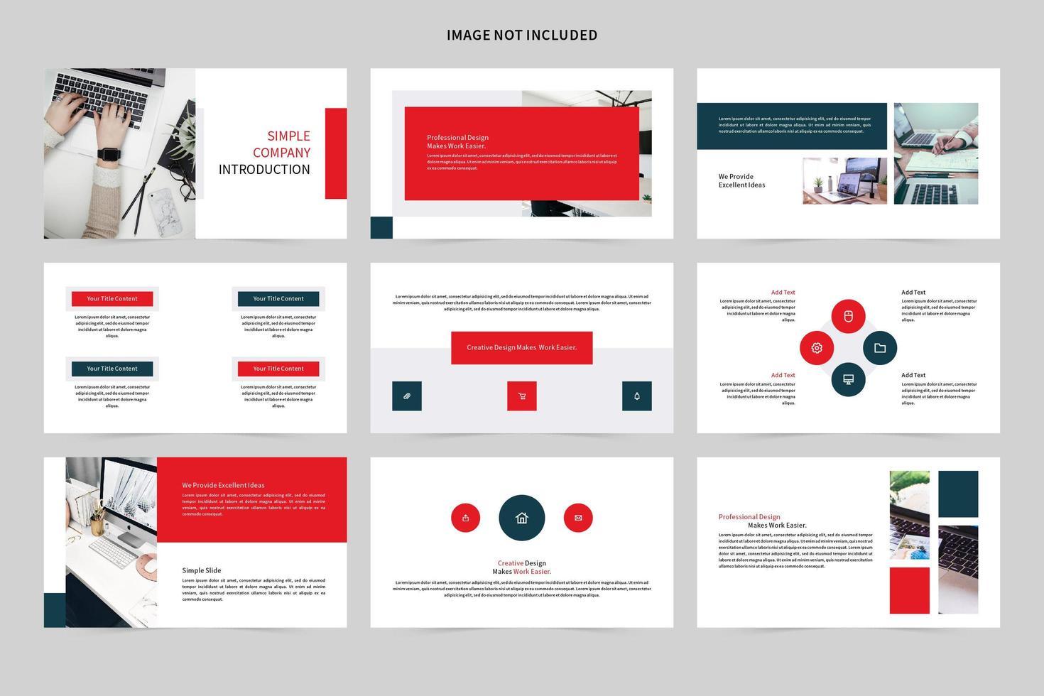 set di diapositive demo introduzione aziendale semplice vettore