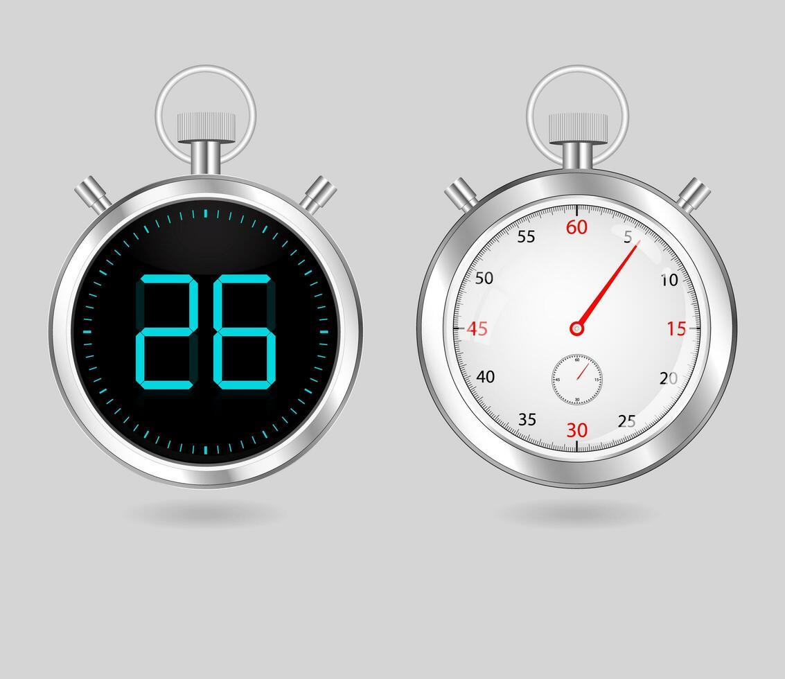 timer digitali e analogici vettore