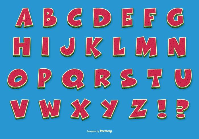 Alfabeto di vettore comico divertente