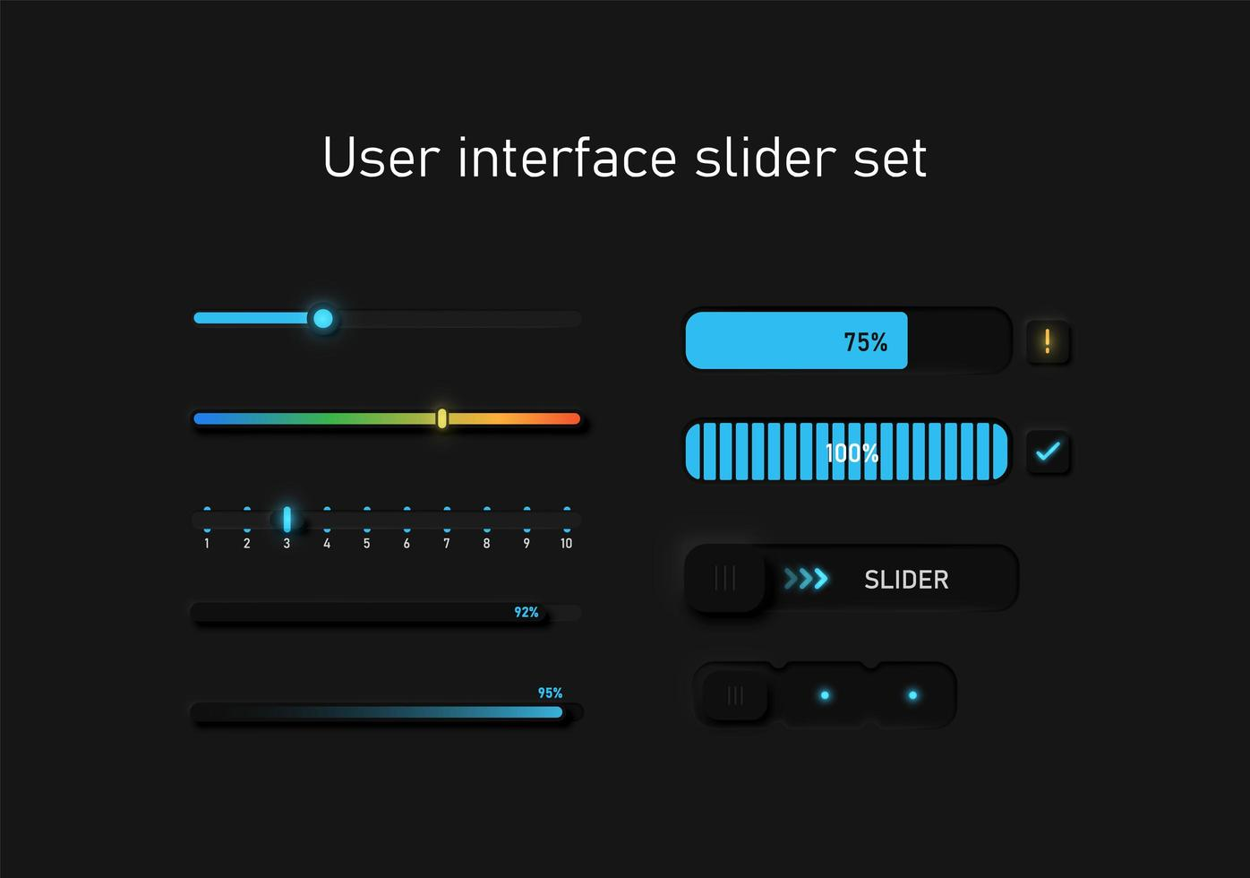 set di cursori dell'interfaccia utente vettore