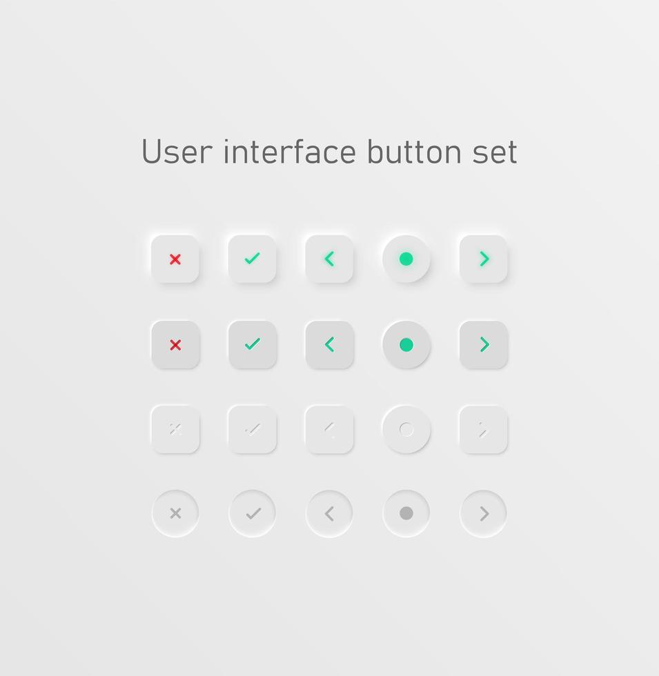 pulsante impostato per i siti Web vettore