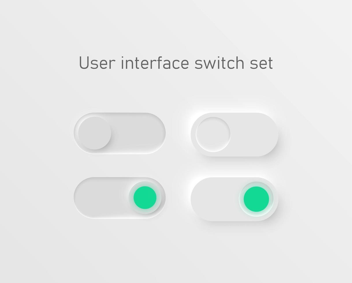 ux set di interruttori di interfaccia vettore
