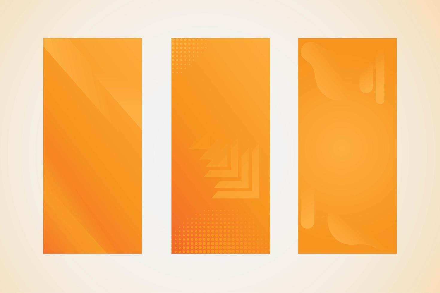 banner geometrici social media arancione vettore