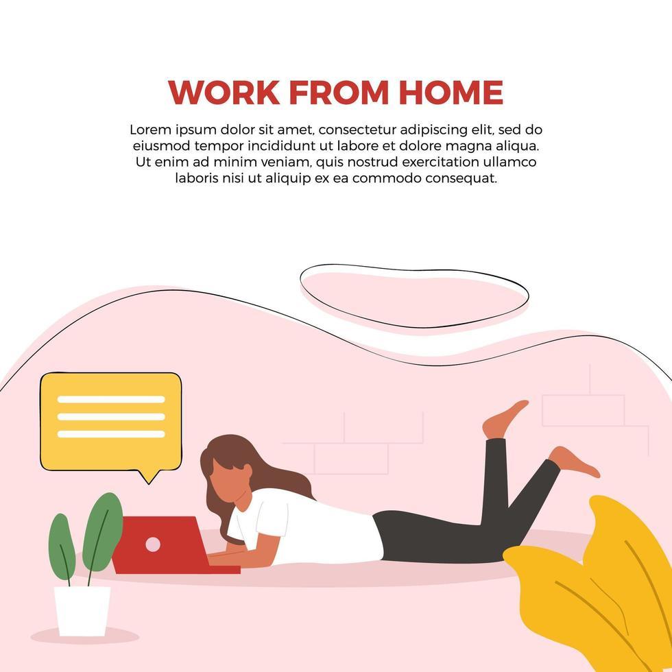 lavoro da casa poster vettore