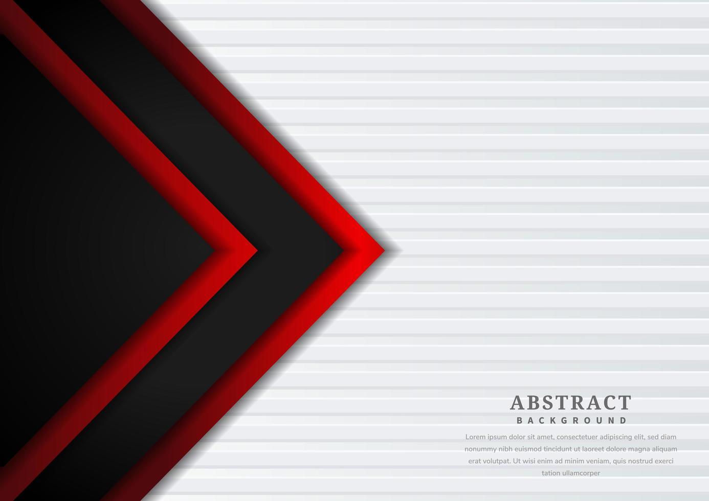 disegno a sovrapposizione geometrica triangolo rosso e nero vettore