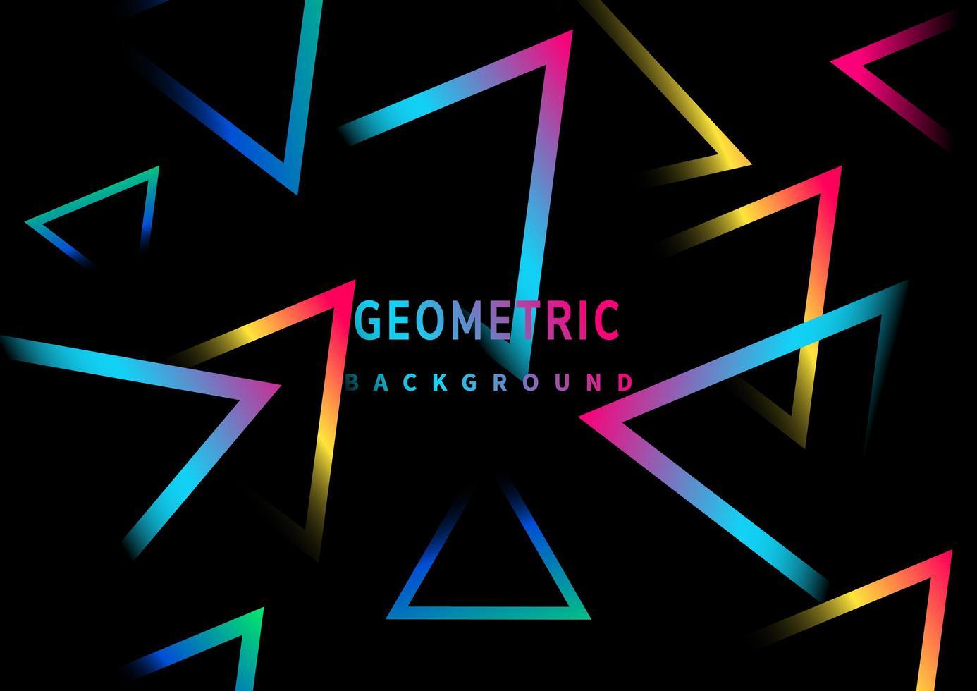 modello di linee triangolo astratto semplice bagliore al neon vettore