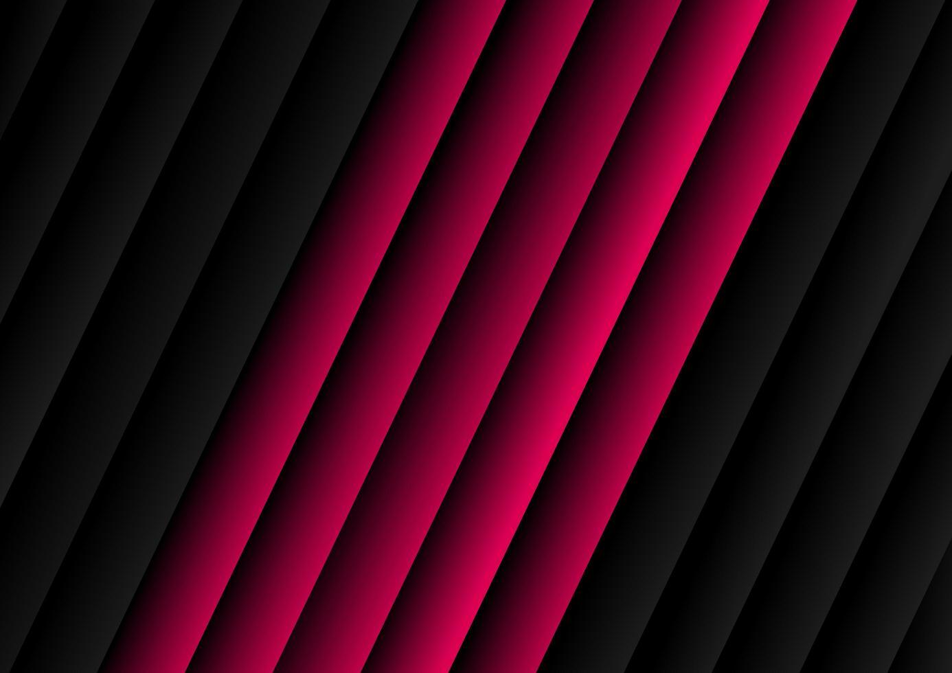 modello diagonale astratto nero e rosa motivo a strisce vettore