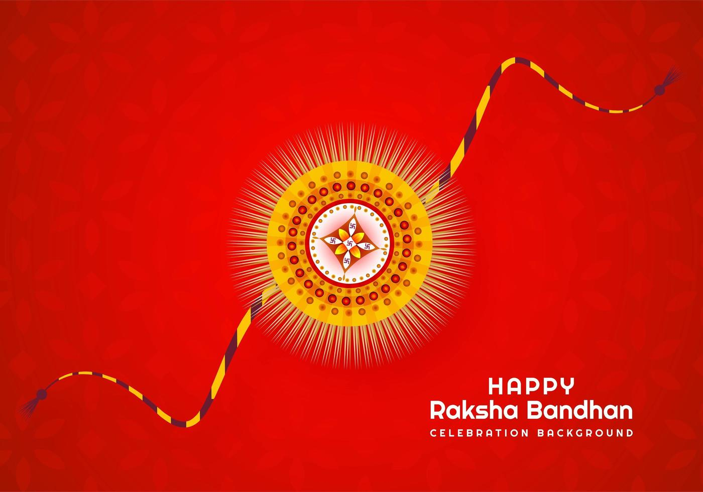 raksha bandhan festival indiano design su rosso vettore