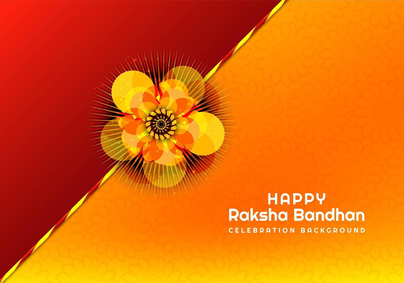 rakhi per carta bandhan raksha vettore