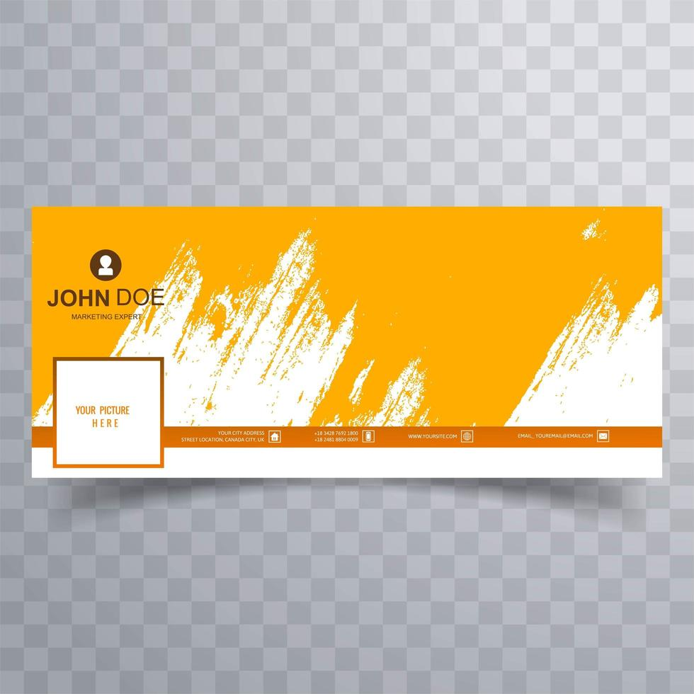disegno di copertina pennellata gialla astratta vettore
