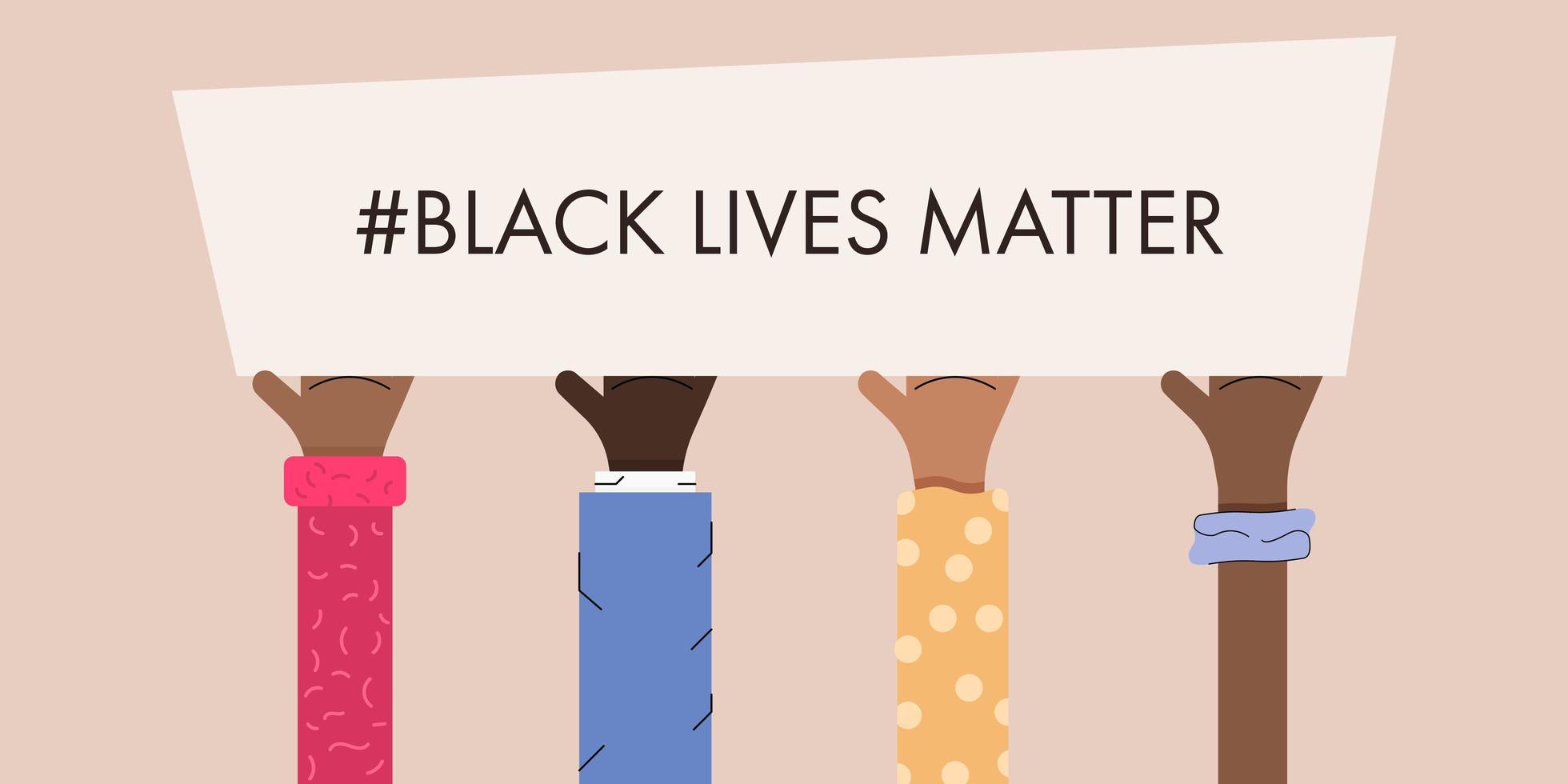le vite nere contano il design delle proteste vettore