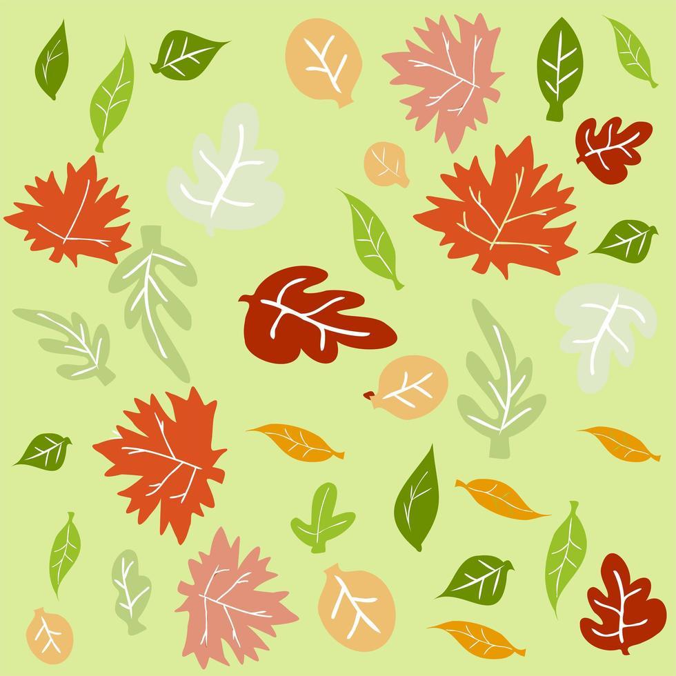 raccolta di foglie d'autunno vettore