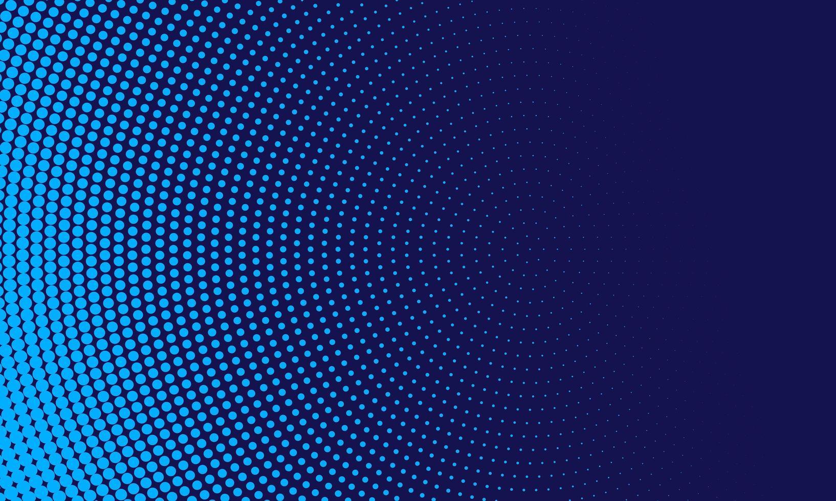 punti astratti di luce blu in cerchio su sfondo blu scuro vettore