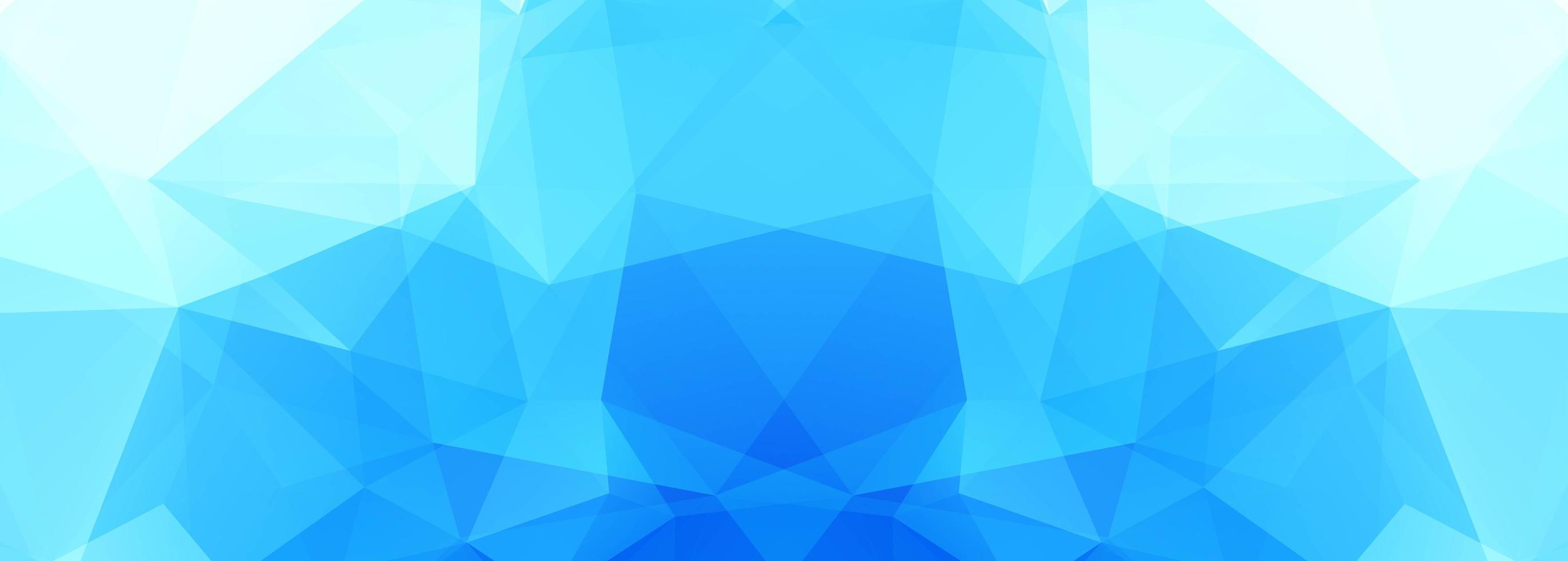banner moderno poligono blu vettore