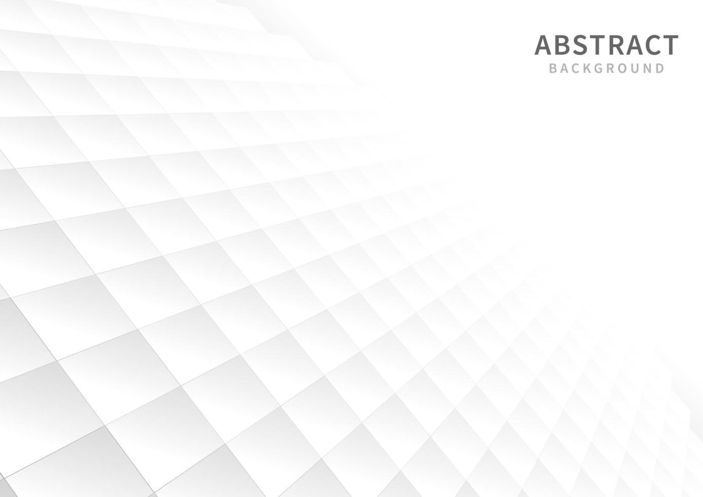quadrati bianchi geometrici in prospettiva vettore