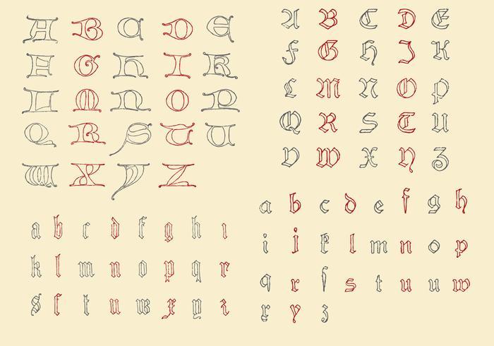 Alfabeti antichi vettore