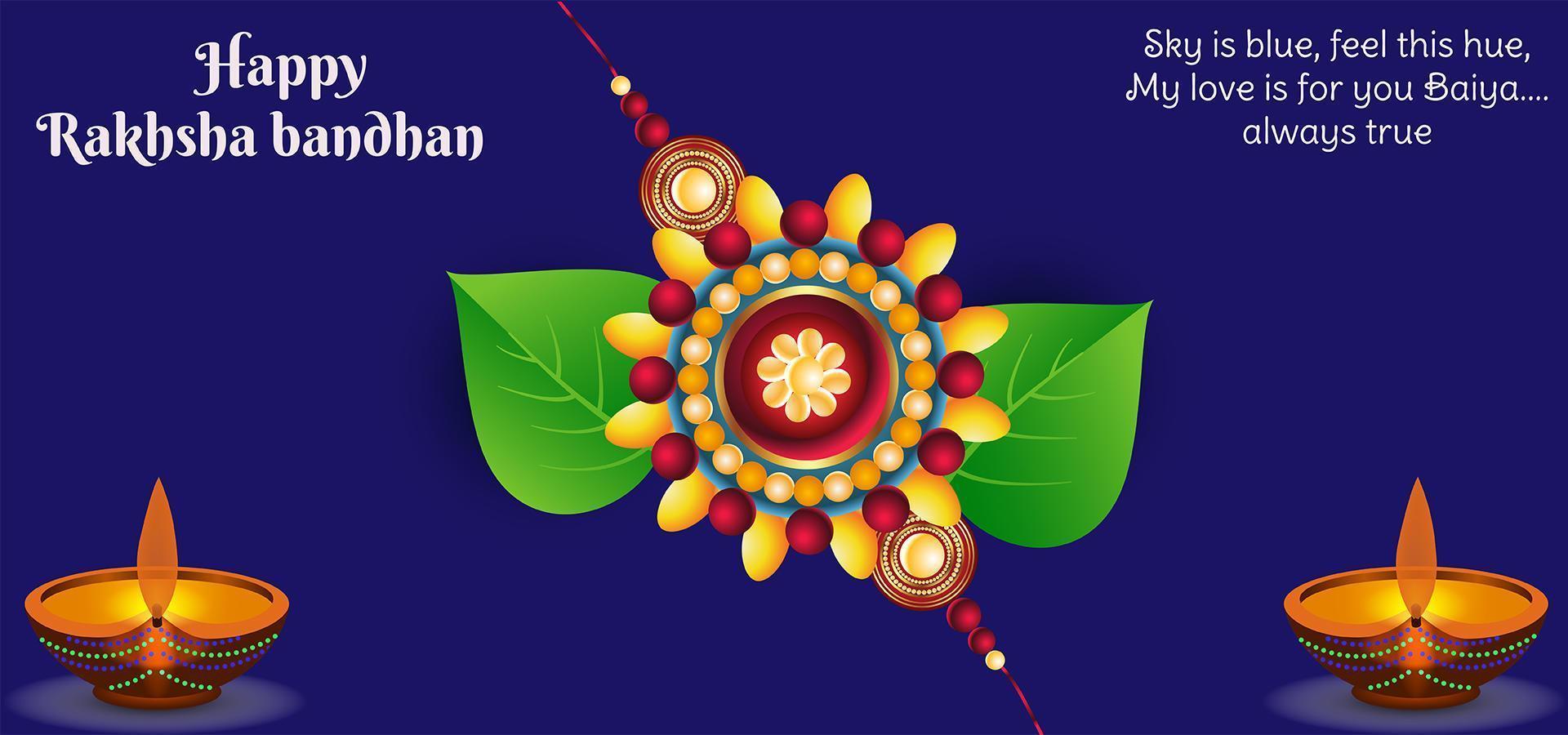 festival indiano rakhsha bandhan sfondo vettore