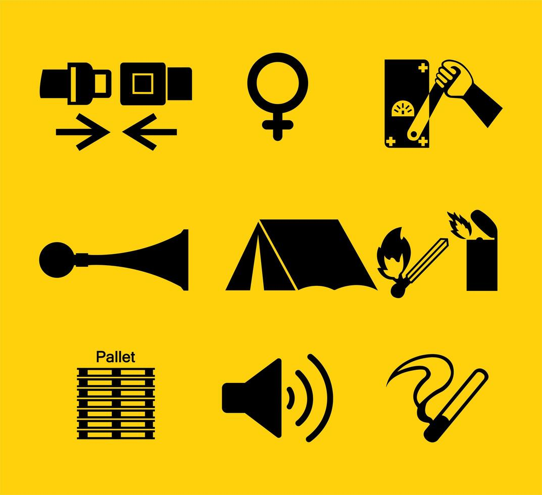 simbolo dei dispositivi di protezione individuale vettore