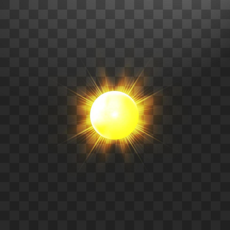 caldo sole sulla trasparenza vettore