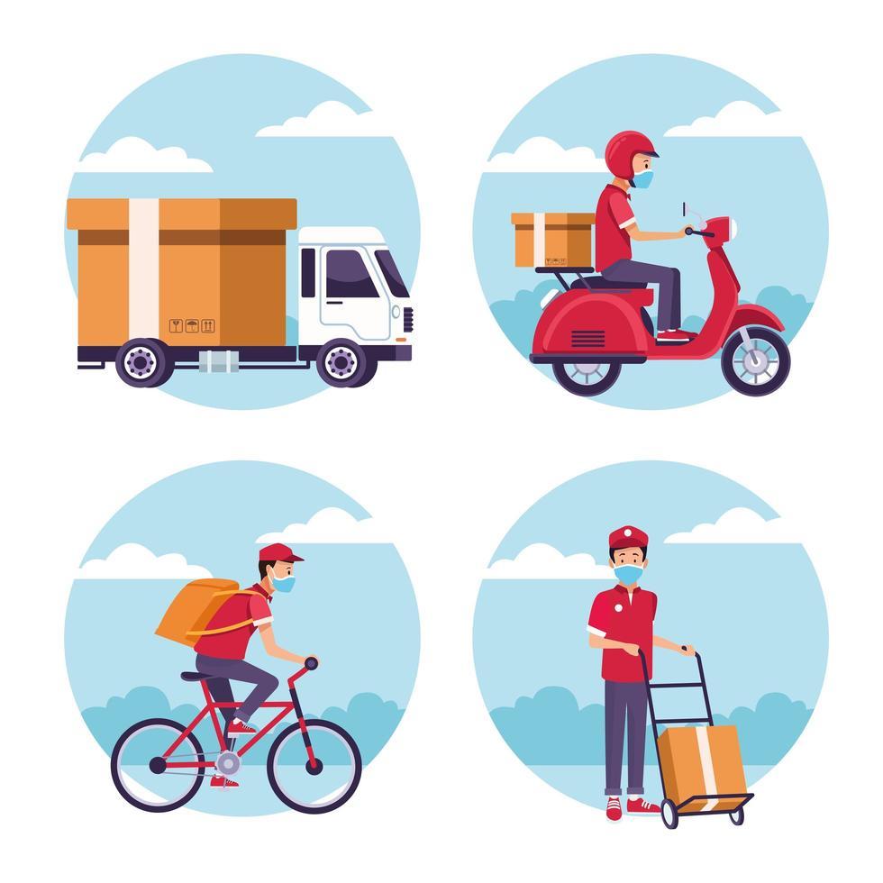 set di servizi di consegna vettore