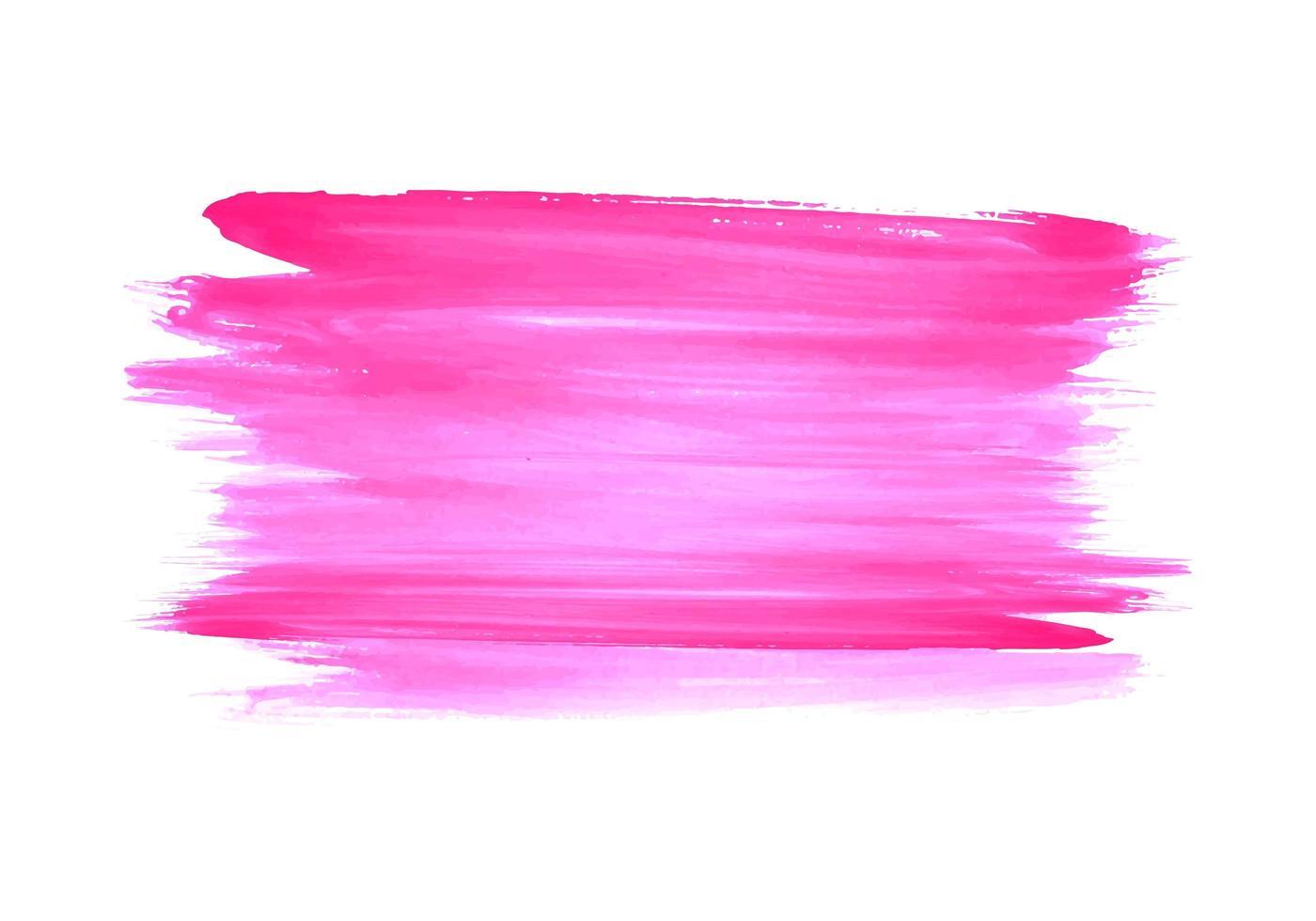 disegno del colpo di tiraggio della mano dell'acquerello rosa moderno vettore