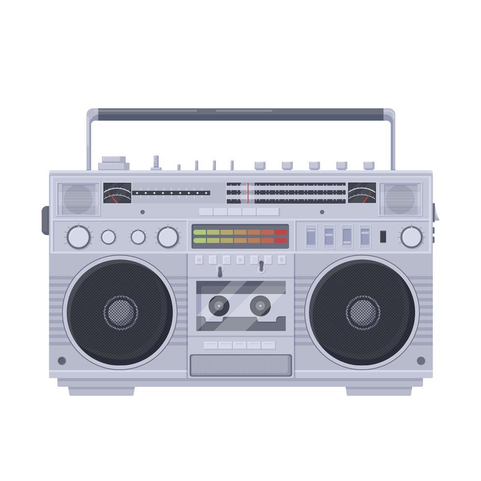 riproduttore di cassette boombox retrò vettore