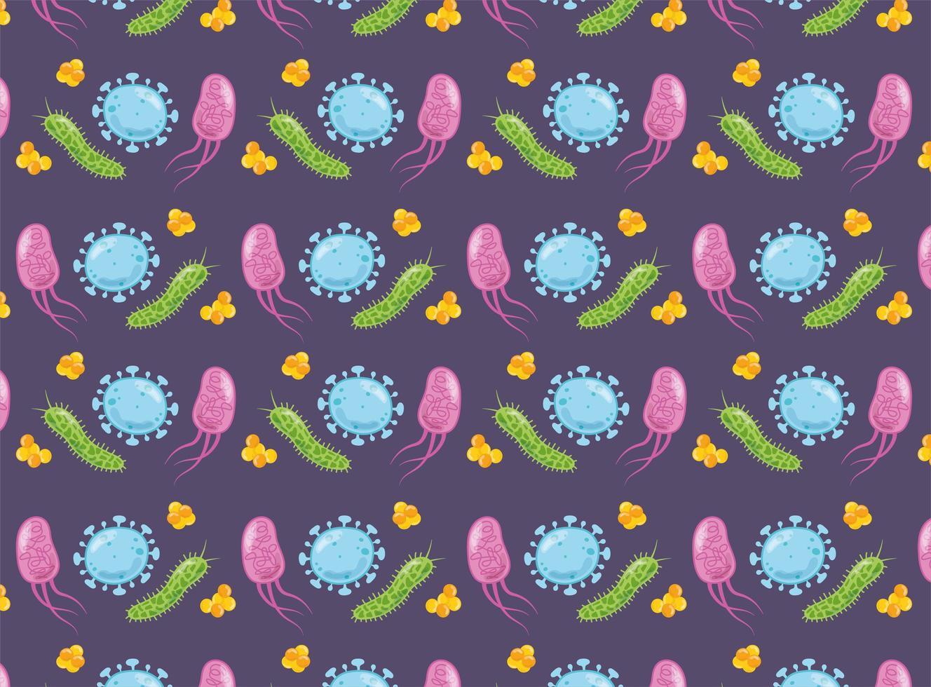 pattern di sfondo del virus vettore