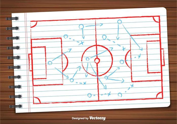 Vettore del piano di calcio
