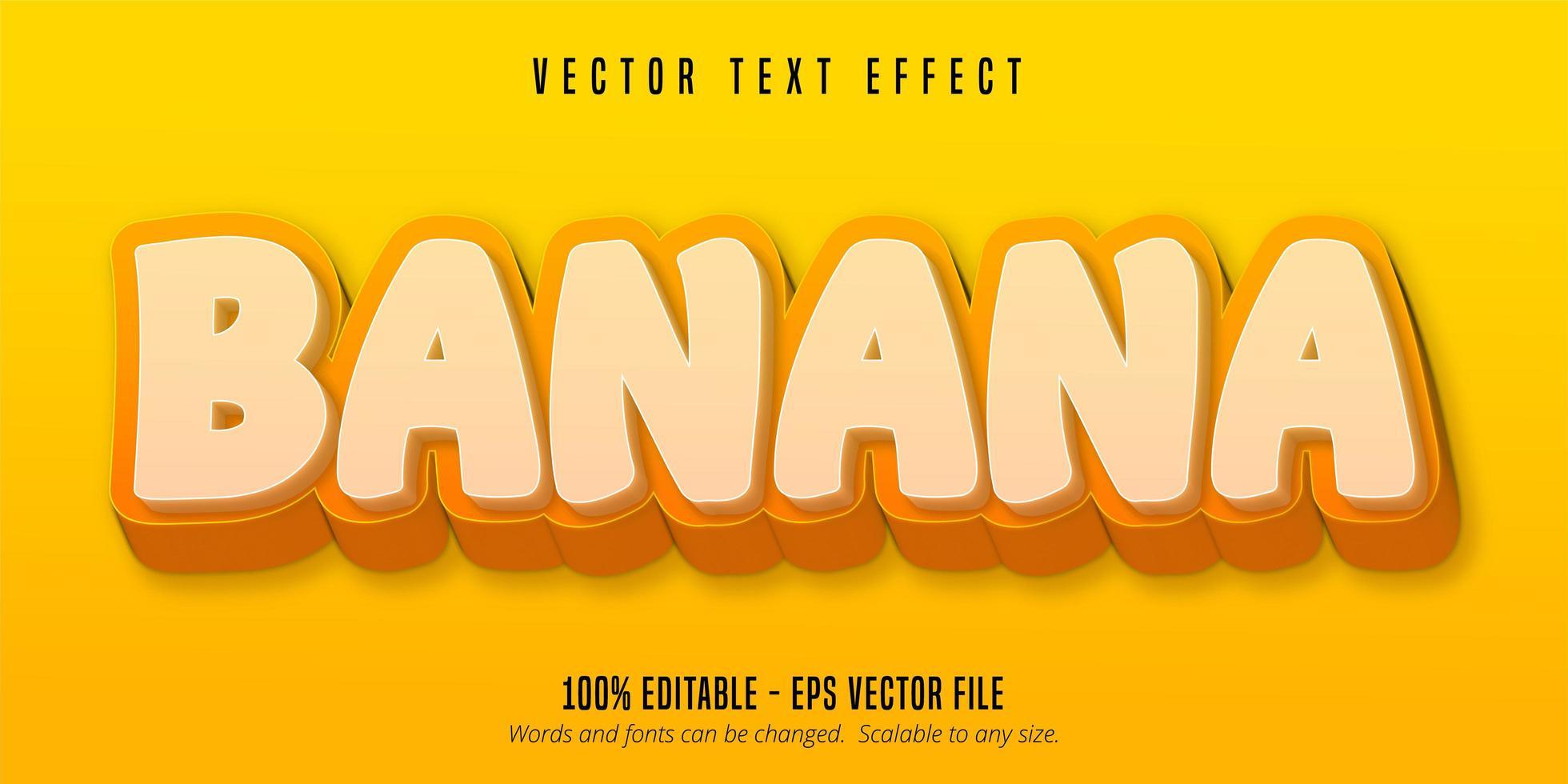 testo di banana gialla vettore