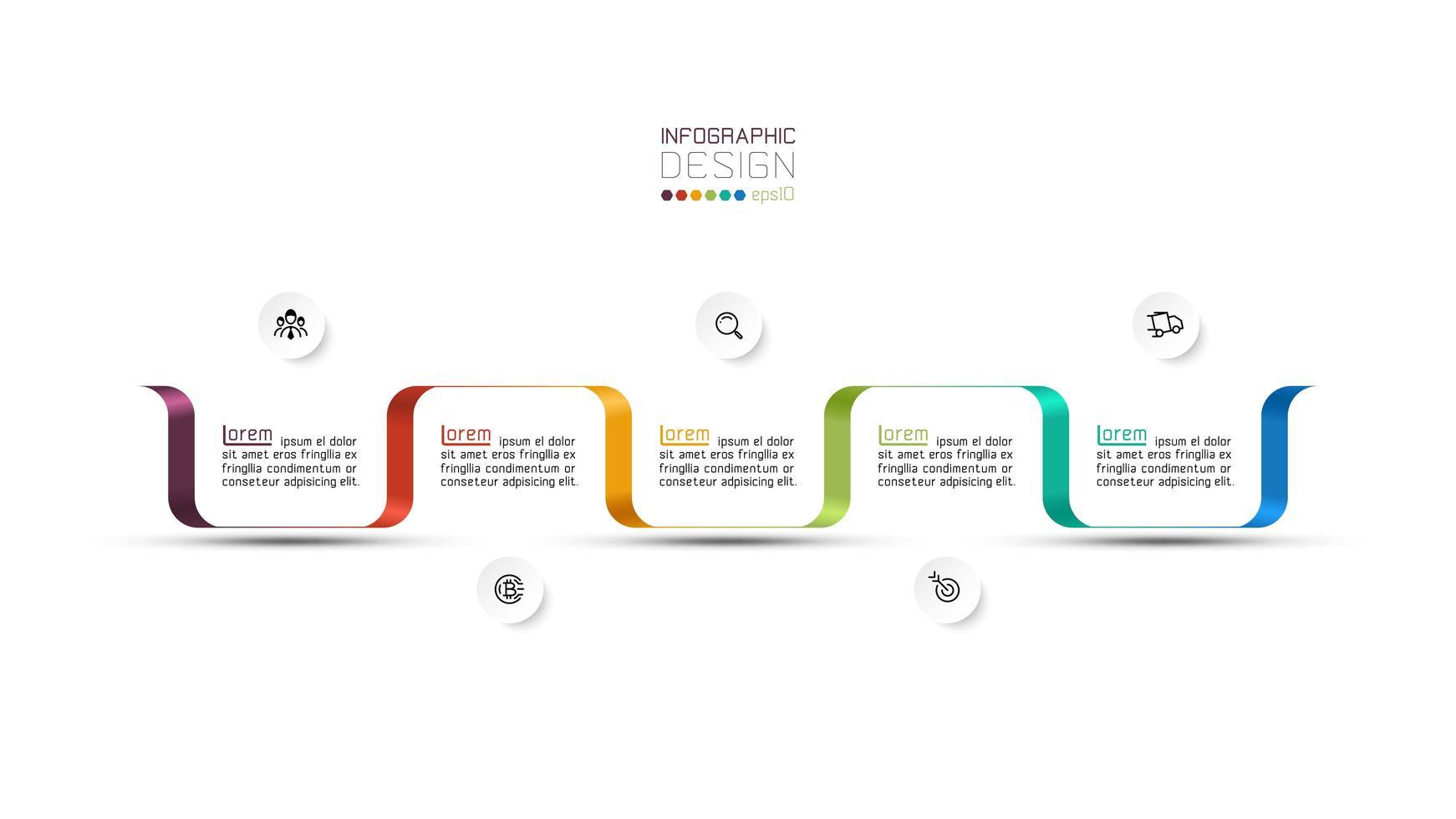cronologia moderna di affari di forma variopinta del nastro vettore