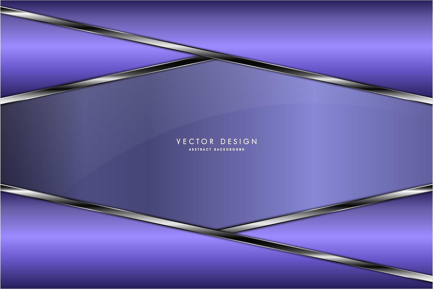 piatti angolati viola metallizzati con bordi argento vettore