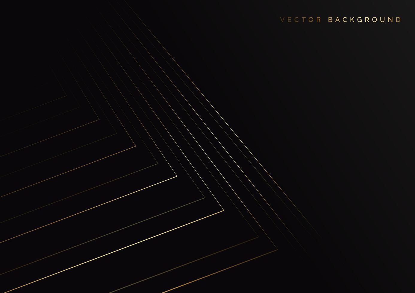 strisce astratte linee dorate vettore