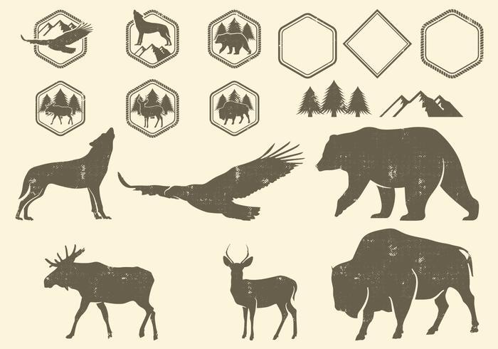 Elementi di design Wilderness vettore