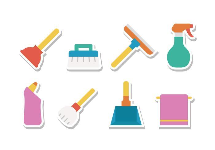 Attrezzature per la pulizia gratuita vettore
