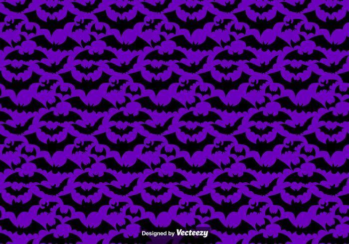 Reticolo senza giunte di vettore di sagome di pipistrelli neri