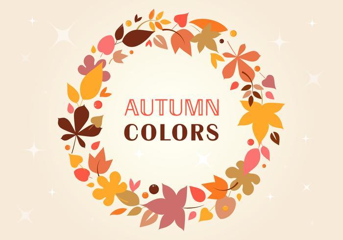 Corona di vettore d'autunno