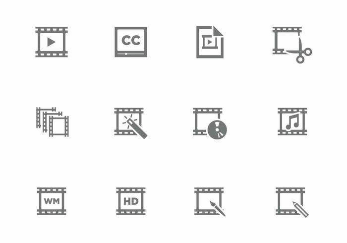 Icona di video editing vettore
