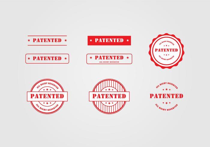 Modello di timbro di brevetto vettore