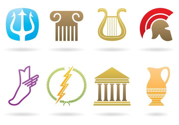 Loghi greci vettore