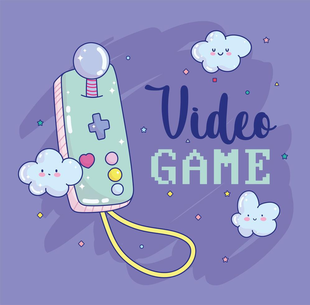 joystick per videogiochi con scritte vettore