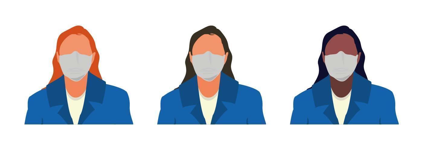 personaggi di donne senza volto avatar vettore