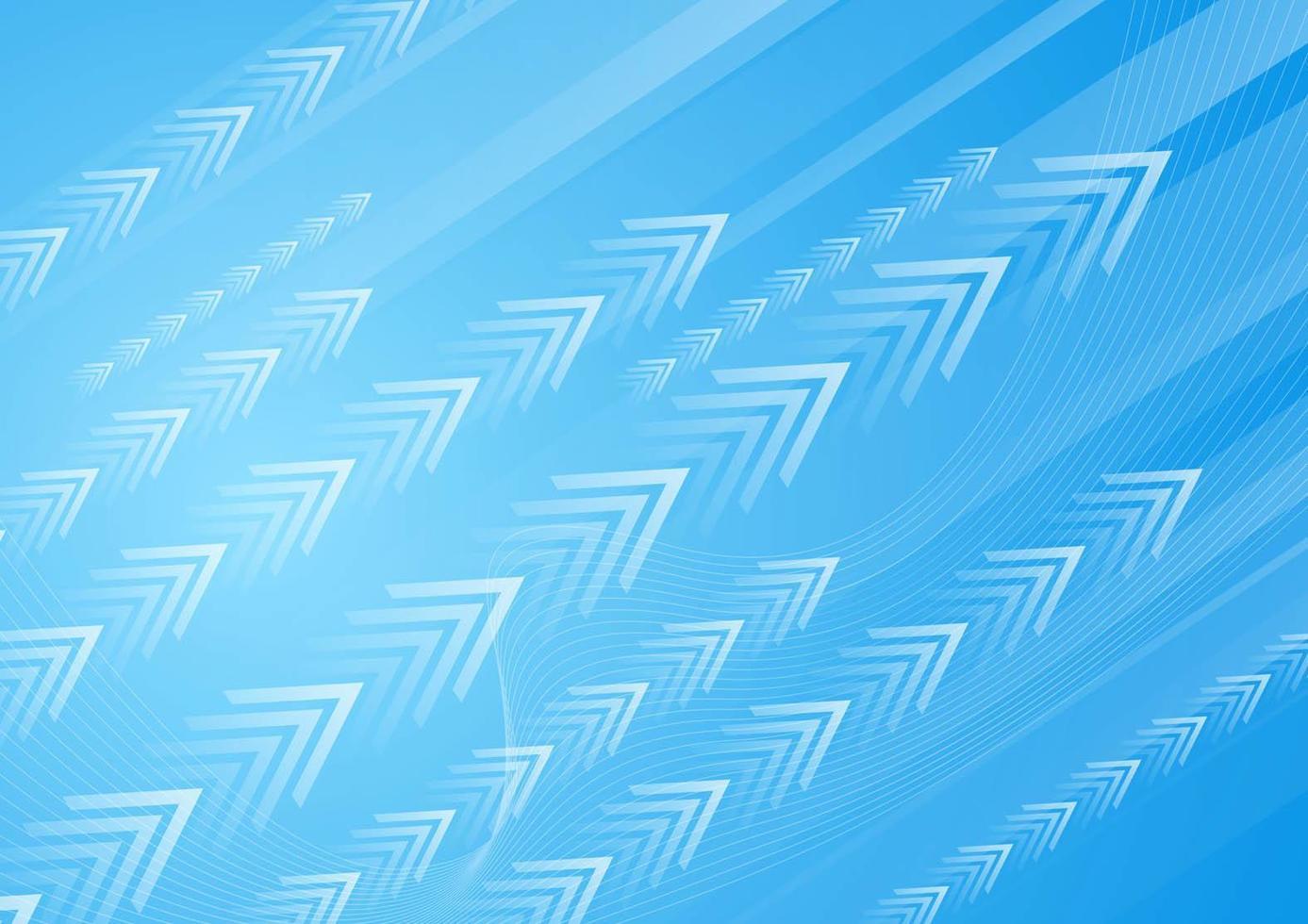 frecce bianche su gradiente blu vettore
