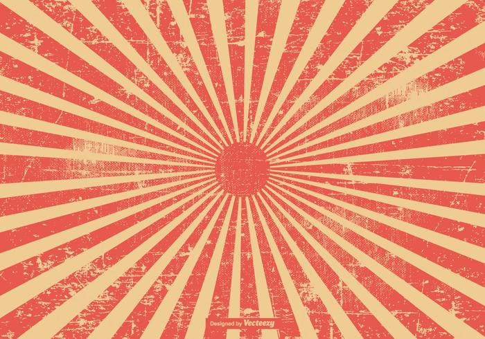 Priorità bassa rossa dello sprazzo di sole di stile di Grunge vettore