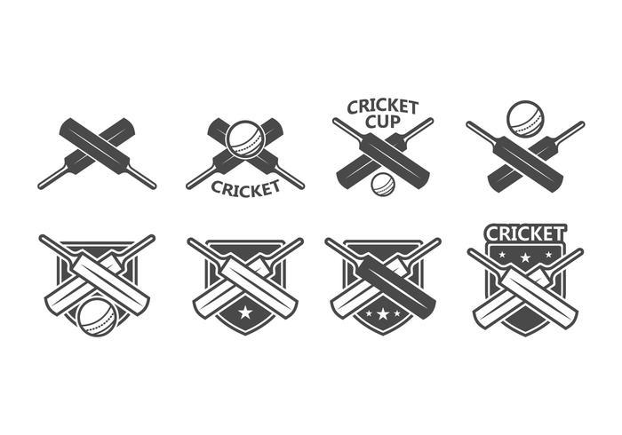 Distintivo di vettore di cricket